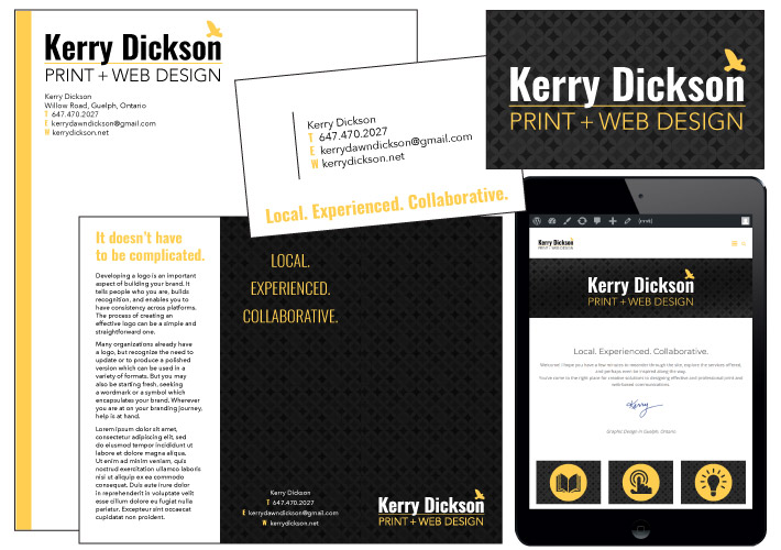 Logo Board for Kerry Dickson